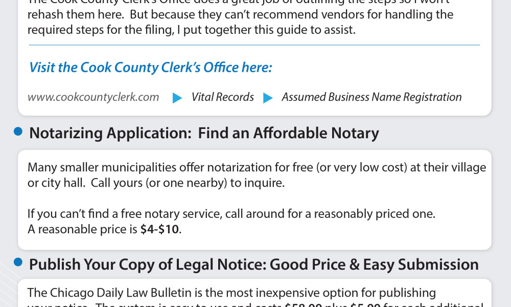 For Sole Proprietors Using An Assumed Business Name